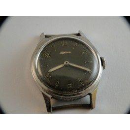 rare swiss made ALPINA military style wristwatch