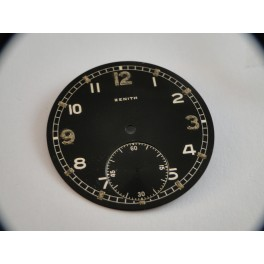 rare swiss made ZENITH MILITARY pocket watch dial