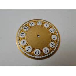 rare swiss made fusee golden dial with enamel numbers